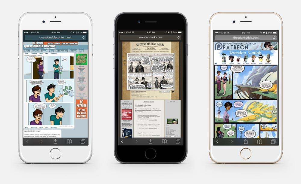 Mobile Webcomics